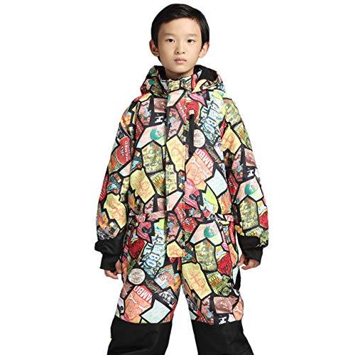 ZYJANO ski pak 2019 Winter Een Stuk Kleurrijke Waterdichte Kids Ski Pak Meisjes Jongens Warm Jumpsuit Sneeuw Sets Thermische Windbreak Snowboard pak