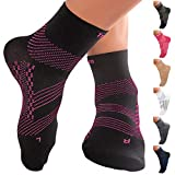 TechWare Pro Ankle Brace Compression Socks - Plantar Fasciitis Sock with Arch Support for Achilles Tendonitis & Heel...