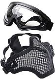Coofit Media Máscara del Respirador al Aire Libre de la Máscara 2 Conjunto Potencia Acero y Gafas