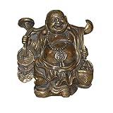 YUNHAO Yuanbao RU Yi Happy Laugh Maitreya - Estatua de Buda de Bronce Chino