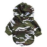 Haustierkleidung,Haustier Hund Katze Welpen Sweatshirts Kleider von Sannysis (Camouflage, S)
