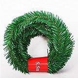 *Funmix Garlanda de Nadal Verd,5,5 M Nadal Garlandes Verdes Arbre de Nadal Artificial Garlandes de *ratán Decoració per a Xemeneies Escales Portes