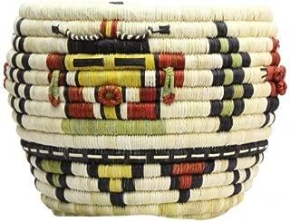 Perry Null Trading Regina Kagenvema, Hopi Coil Basket, Mudhead Corn Maiden, 9 1/2