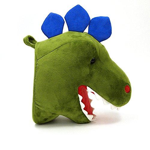 "GUND Chomper Plush Dinosaur Head Stuffed Animal Hanging Wall Décor, Green, 15"""
