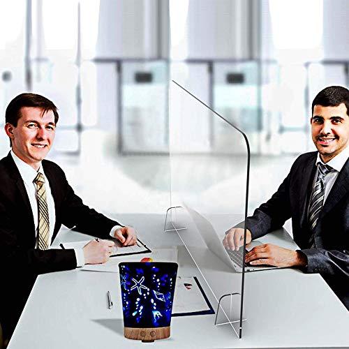 SZYW Mampara Metacrilato Mostrador, Transparente Mampara Protección Compacto Separador 80x60cm para Lugar De Trabajo, Oficina, Negocios