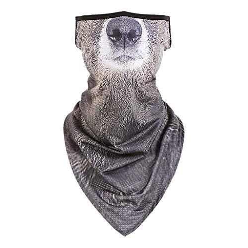 Bufanda de Julhold con diseño de boca de animales, para el cuello, con gancho para la oreja, bandana, bufanda, bufanda, bufanda, bufanda, bufanda, bufanda, ciclismo, pesca, senderismo J. Large