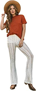 Life Clothing Co. Women's Eyelet Flare Bell Bottom Pants