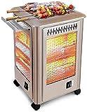 WSJTT Calefactor Chimenea Multifuncional Calentador eléctrico Calentador eléctrico calefacción en Invierno Debajo de la Mesa Uso Familiar Interior