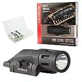 Inforce WML White/IR Gen 2 Tactical Light 400 Lumen LED Bundle with 2 CR123 Batteries and a LightJunction Battery Box