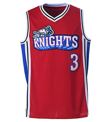 Youth Calvin Cambridge Shirts #3 LA Knights Basketball Jersey for Kids/Boys (Red, Youth Small)