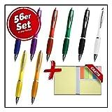 Projects - Set di 56 eleganti penne a sfera, per ufficio e casa, trendy e colorato, set di...