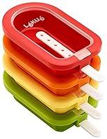 Lékué – Stampo per gelato, impilabile, Mini, 10,5 cm, 4 pezzi