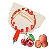 Gqavril12 Fruit Picker Manico Fruit Picker Fruit Picker Raccogli Fruit Picking Tools Fruit Picking Strumento Raccoglifrutta Fruit Picker Pratico Utensile Raccolta Frutta per Fattoria (Arancia)