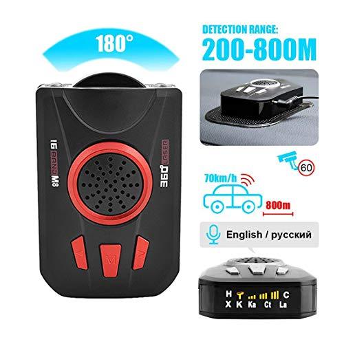 LuckyGGG Velocímetro de Radar de Coche Perro electrónico de Coche Velocímetro de Radar móvil de Coche