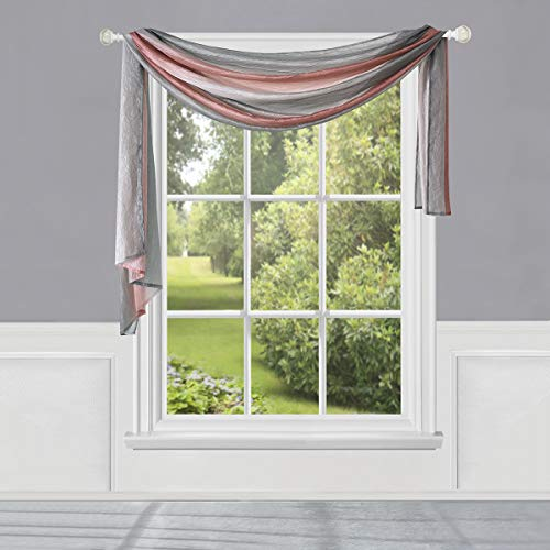 "Achim Home Furnishings, Blush Ombre Window Curtain Scarf, 50"" x 144"""