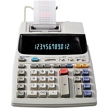 Sharp El-1501 Compact Cordless Paperless 12-Digit Display Printing Calculator