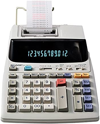 Sharp EL-1801V Ink Printing Calculator, Fluorescent Display, AC, Off-White photo