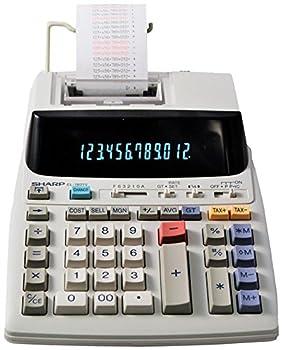 Sharp EL-1801V Ink Printing Calculator Fluorescent Display AC Off-White