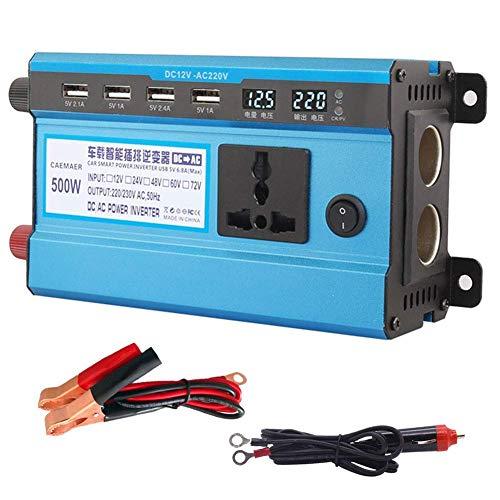 ZHCJH inversor Profesional 48 V/60 V CC a 220 V CA 500 W-4000 W Inversor Corriente Ventilador doméstico Refrigeración Convertidor Coche para electrodomésticos Fuente alimentación Emergencia