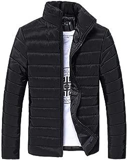 Giacca da Uomo in Pelle Cuoio PU con Colletto Coreana di Velluto Cappotto Spesso Caldo per Inverno Taglia XS 3XL