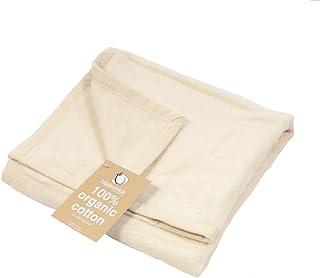 Hippychick Organic Cotton Toddler Blanket, 100 x 150 cm, Natural