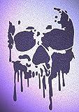 Skull Stencil Mylar Skulls Skeletons Gothic Stencils