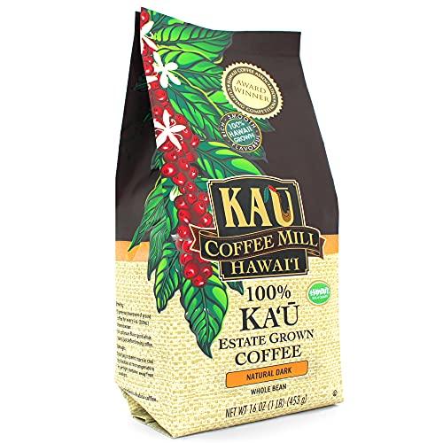 Natural Dark Whole Bean Ka'u Coffee (16 Ounce), 100% Hawaiian Award Winning Coffee by Ka`u Coffee Mill