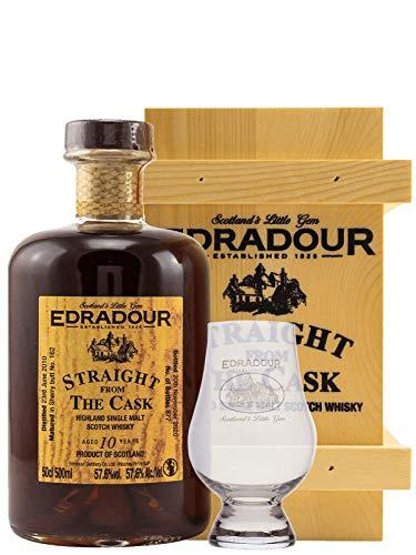 Edradour SFTC - 10 Jahre - 2010/2020 - Sherry Butt - Cask No. 162 - Single Malt Whisky + 1 Glas