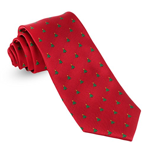 John William Christmas Ties For Men: Festive Conversational Mens Ties: Holiday Neck Ties For Men - Tree & Star