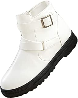 Aiweijia Ladies Winter High-Top PU Rubber Sole Martin Snow Boots with Zipper