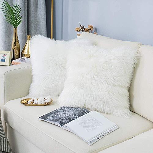 HETOOSHI Fodera per Cuscino in Lana Artificiale Fodera per Cuscino, Super Soft Fodera per Cuscino in Pelle Deluxe Home Decor Decorativo Camera da Letto Federa Divano
