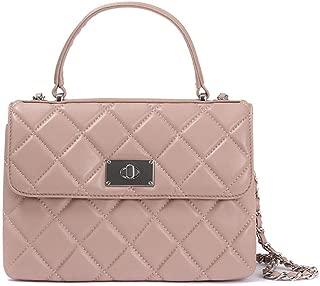 Jones Bootmaker Womens Quilted Leather Handbag Clasp Bag