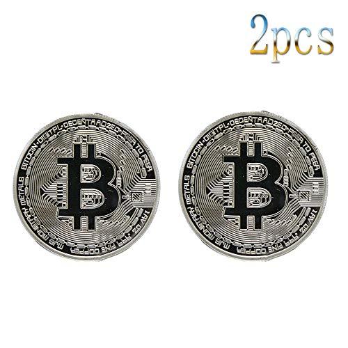 Bitcoin,Monedas,Colección,Litecoin,Ethereum,Moneda Virtual,Monedas Conmemorativas,Alta Calidad,6 Piezas Oro Platino/B/Paridad