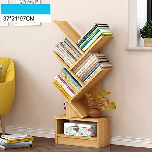 GWXJZ CD opslag plank DVD boekenkast vloer student plank eenvoudige woonkamer boekenkast 5 laag boom opslag plank ruimte opslaan cd rack