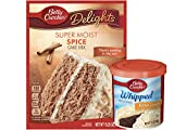 Betty Crocker Spice Cake Mix with Buttercream Frosting Bundle (2 Items)