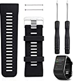 Reloj Garmin Vivoactive HR Watch Band, Rukoy Silicone Wristband Reloj pulsera Smartwatch para Garmin Vivoactive HR Fitness Watch (Negro)