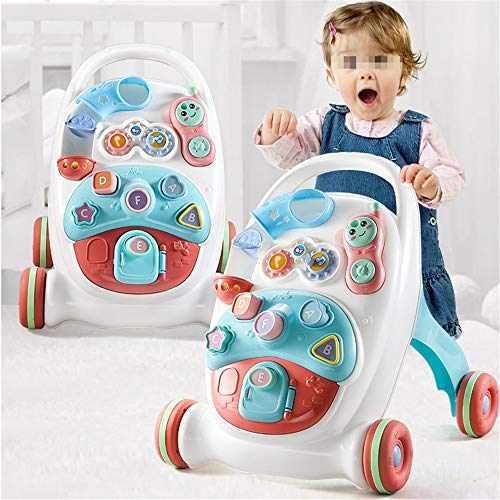 Best Deals! HANXIAODONG Baby Push Walker Girl&Boy Walker Toy Infant Multi-Purpose Walker Toddler Bab...