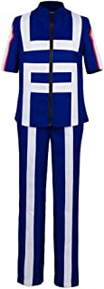 Cosplay Boku no Hero Academia My Hero Academia Izuku Midoriya Costume Training Suit Uniform Blue