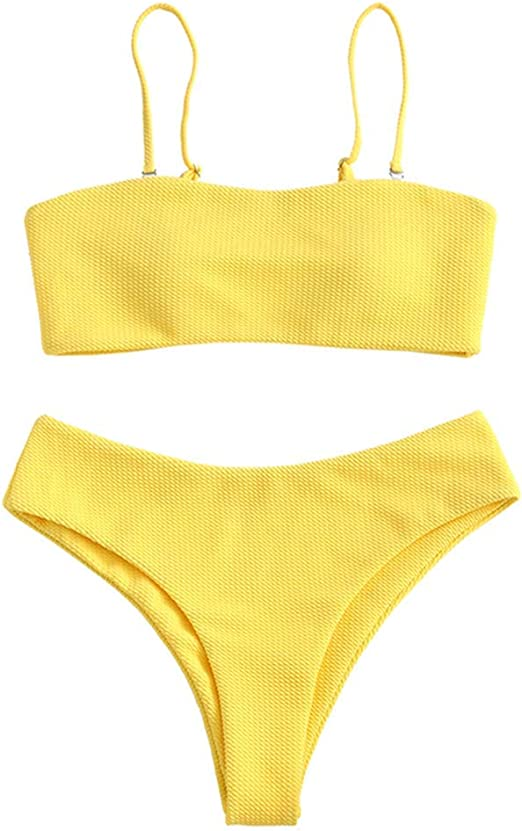 yellow simple beautiful stylish bikini