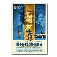 ストックホルムホットムービーポスターキャンバス絵画壁アート写真ポスターとプリントポスターアートの装飾明るい家の装飾-50x70cmx1pcs-フレームなし