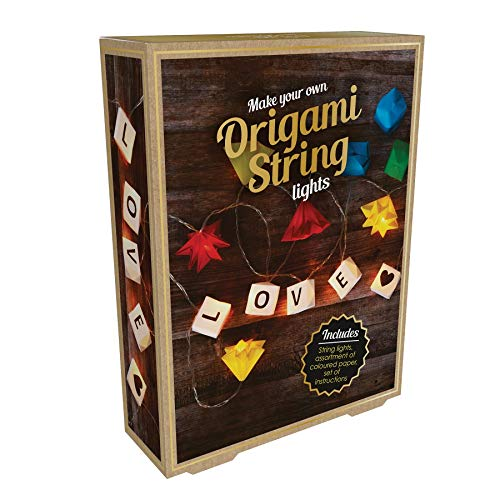 Fiz Origami String Make Your Own - Guirnalda de Luces LED Multicolor, Multicolor, 2 m