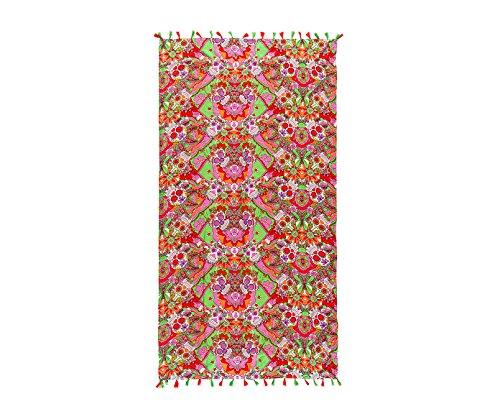 Textil Tarragó Calaveras Toalla Pareo, Poliéster, Multicolor, 27x38x3 cm