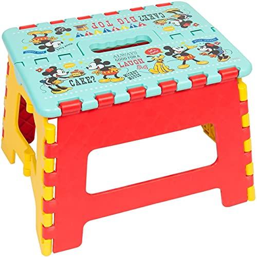 [ディズニー] キャラクター ステップチェア 折りたたみ式 踏み台 イス 取手つき 小 (ミッキー&ミニー)