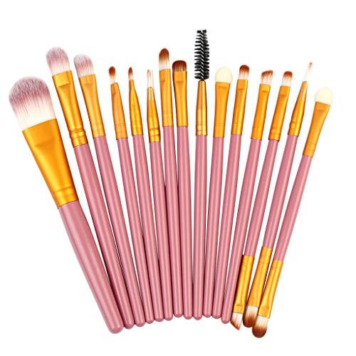 Pinceaux de Maquillage Set de 15 Pièces Premium Coloré Fondation Mélange Blush Yeux Visage Poudre Brosse Cosmétiques (G)