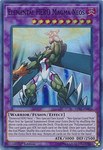 Yu-Gi-Oh! - Elemental HERO Magma Neos - SHVA-EN034 - Super Rare - 1st Edition - Shadows In Valhalla
