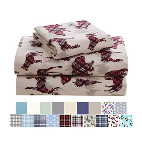 Morgan Home Cotton Turkish Flannel Sheets Fashions - 100% Brushed Cotton for Supreme Comfort - Deep Pockets - Warm and Cozy, Great for All Seasons...