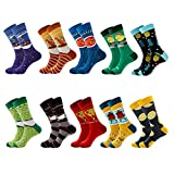 Calcetines Para Hombre Pintura Al Óleo Fruit Striped Stitch Funny Personality Mural Art Cotton...