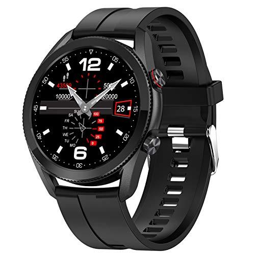 HQPCAHL Smartwatch Reloj Inteligente para Hombres, Fitness Tracker con Llamada Bluetooth Monitor De Frecuencia Cardíaca Presión Arterial Oxígeno En Sangre Sueño Batería De 290 MAH Li,Negro