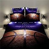 LZQ Ropa de cama, funda de almohada de sábana, cubierta suave, impresión 3D de tres piezas
