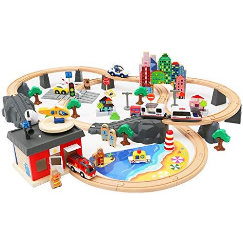 ZKW-Track 92 piezas de la pista de tren de transporte por ferrocarril en las pistas situadas unión de bloques de Vehículos Playsets escala del modelo for el muchacho y la muchacha presente de cumpleañ